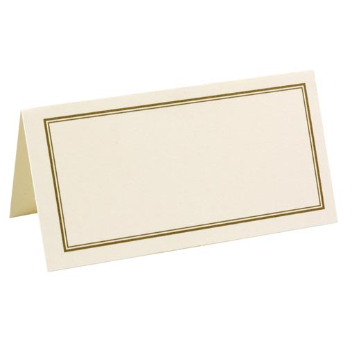 Place Cards - Ivory & Gold