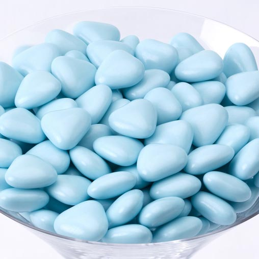 Mini Heart Dragees - Blue