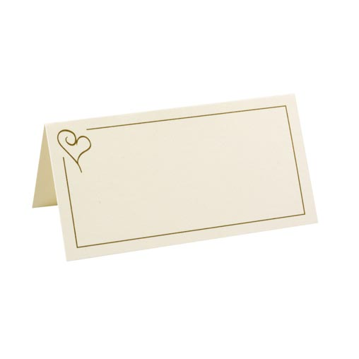 Place Cards - Contemporary Heart Gold