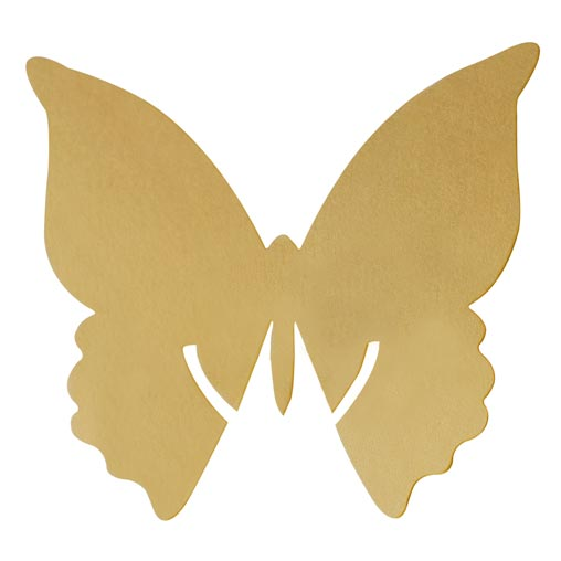 Place Card on Glass - Butterfly - Gold