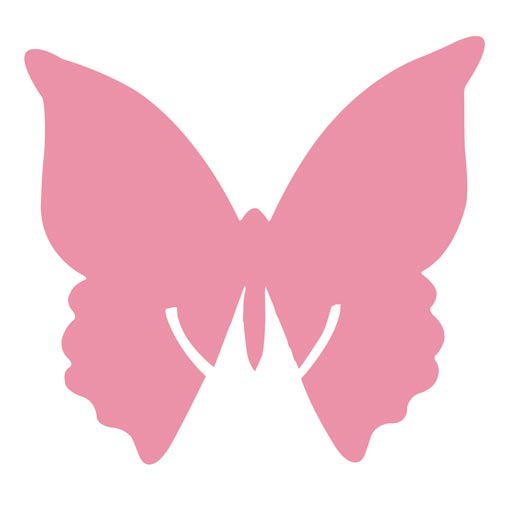 Place Card on Glass - Butterfly - Hot Pink