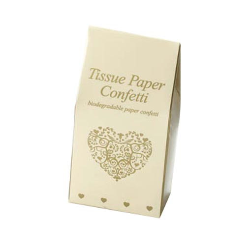 Vintage Romance - Tissue Paper Confetti - Ivory & Gold