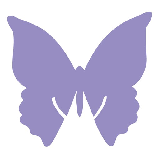Place Card on Glass - Butterfly - Lilac