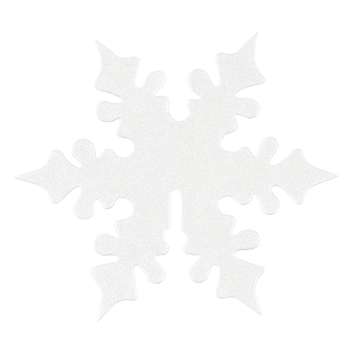 Shimmering Snowflake - White Place Card for Glass - 10 Pack