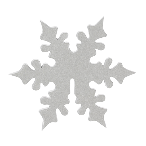 Shimmering Snowflake - Place Card for Glass - Silver