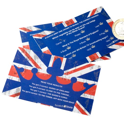 Celebrate Britain - Scratch Trivia - 10 Pack