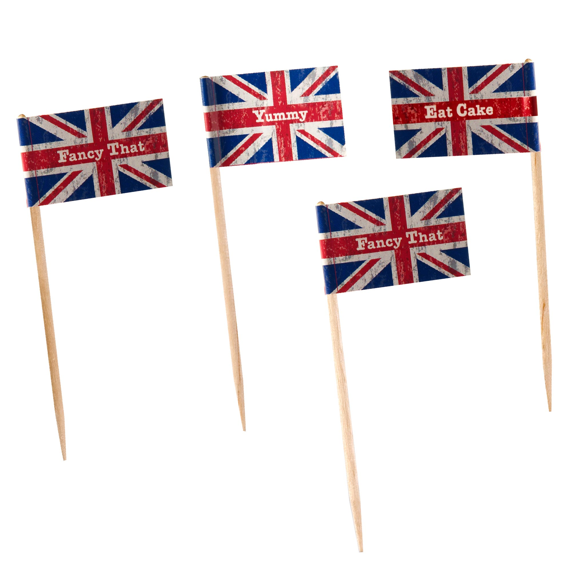 Celebrate Britain - Cupcake Sticks - 20 Pack
