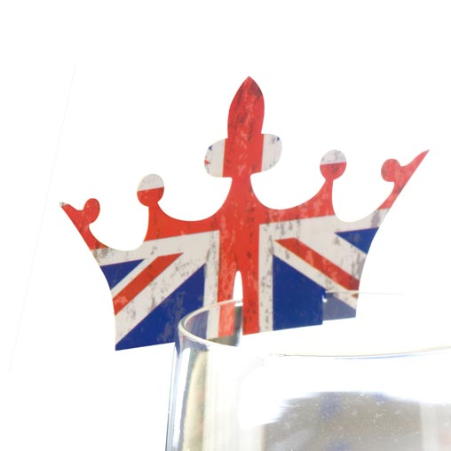 Celebrate Britain - Crown Glass Decoration - 10 Pack