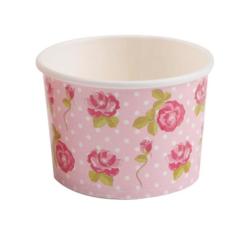 Vintage Rose - Ice Cream Tubs