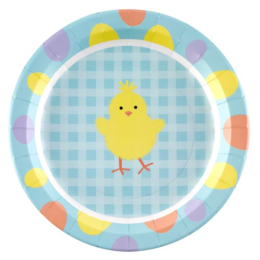 Easter Chick Paper Plates