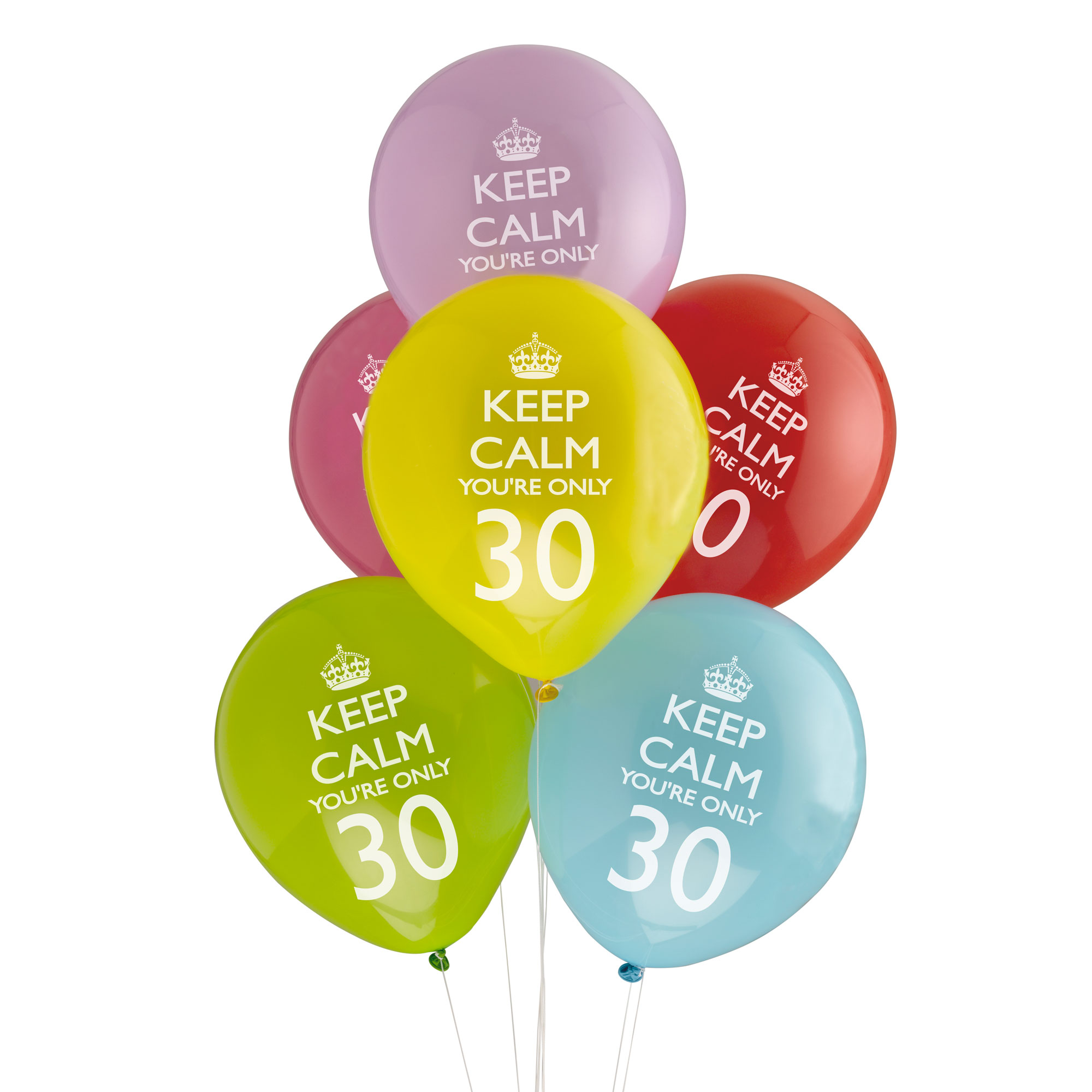 Keep Calm & Party On Balloons - 30th
