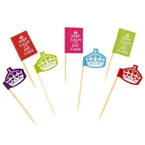 Keep Calm & Party On Cupcake Picks