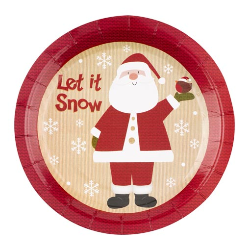 Let it Snow - Father Christmas - Plates