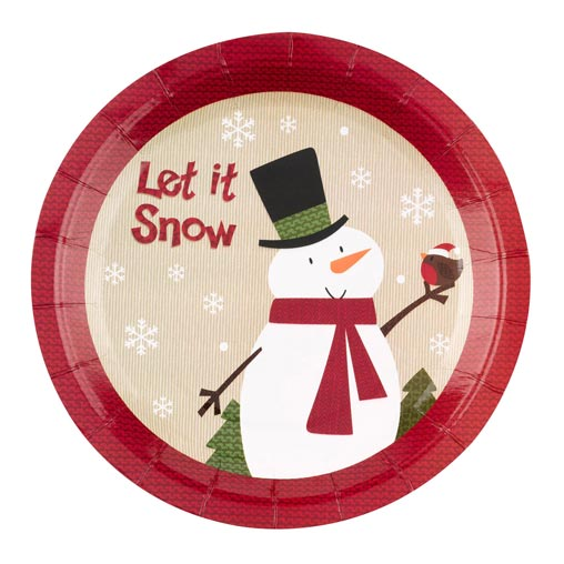 Let it Snow - Snowman - Plates