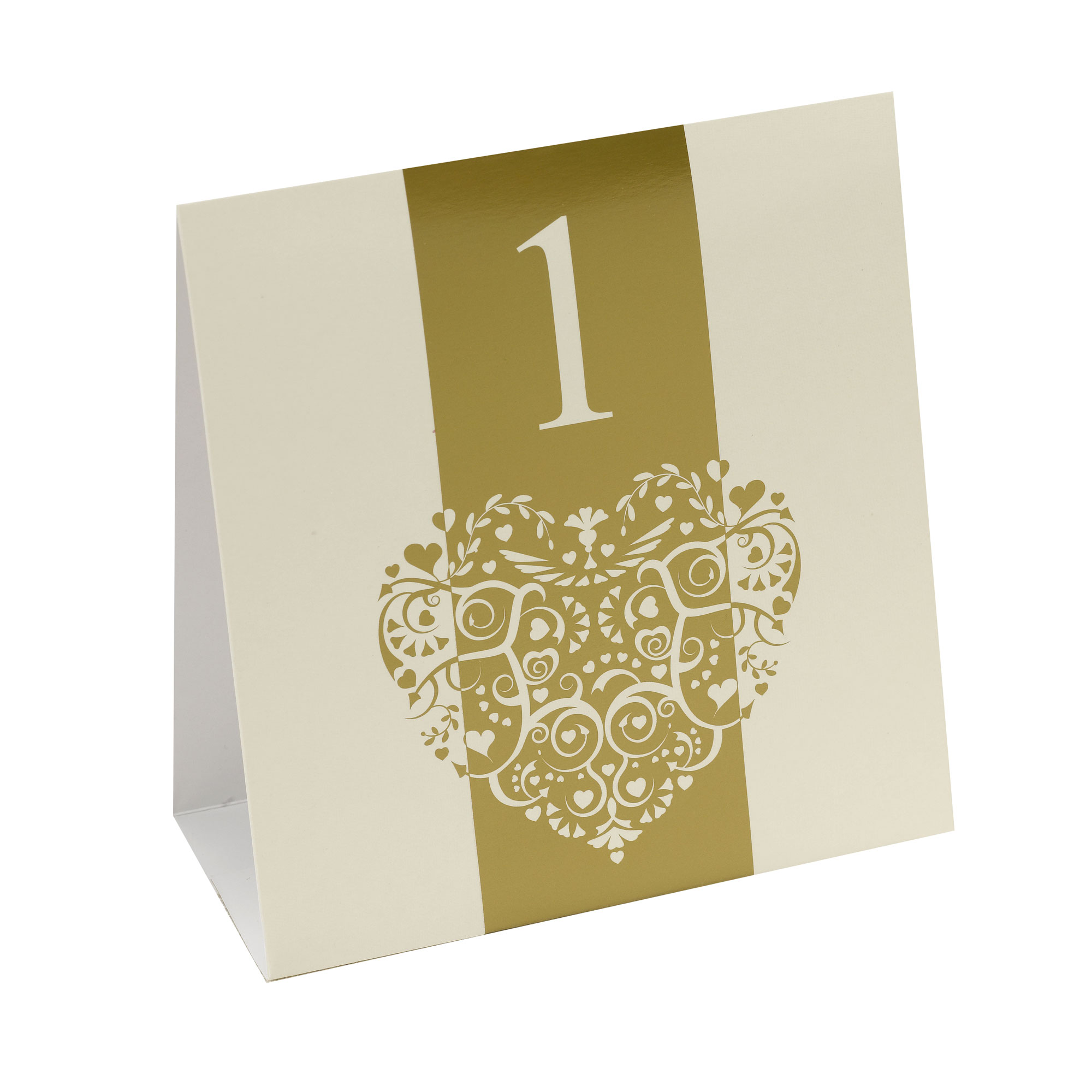Vintage Romance - Table Numbers - Ivory/Gold