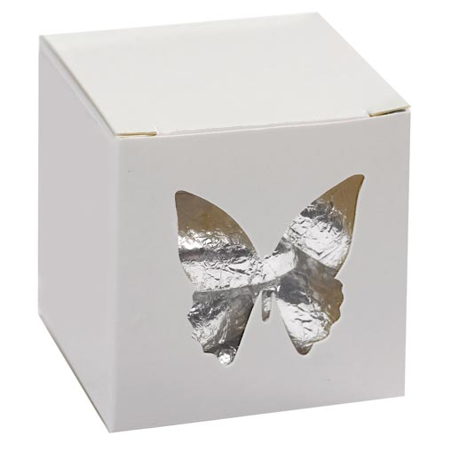 Elegant Butterfly - Favour Box - White - 10