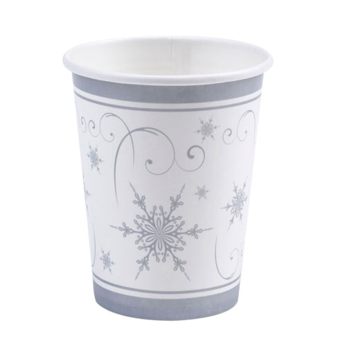 Shimmering Snowflake - Cups