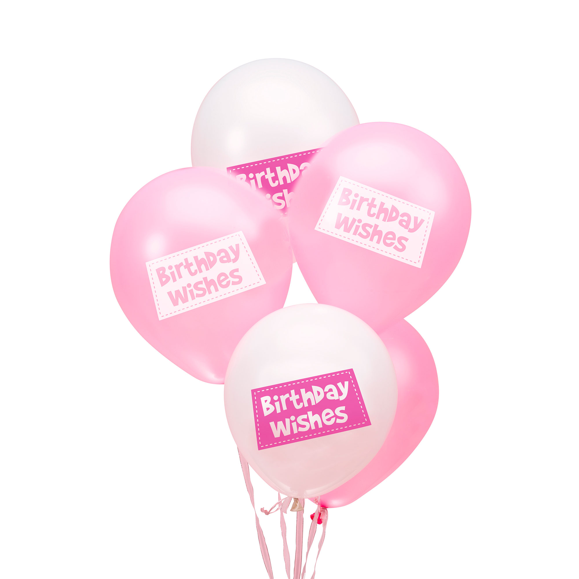 Little Owls - Birthday Wishes Balloons - Pink
