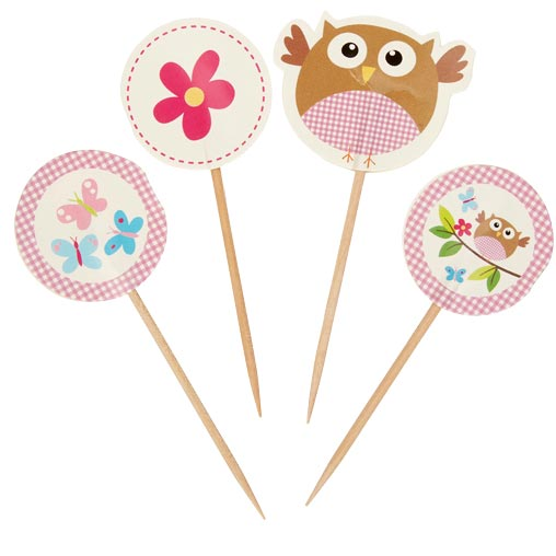 Little Owls - Picks - Pink