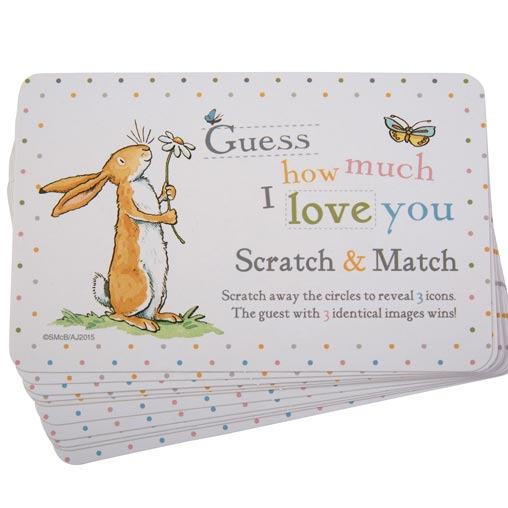 Guess How Much I Love you - Scratch Card Game