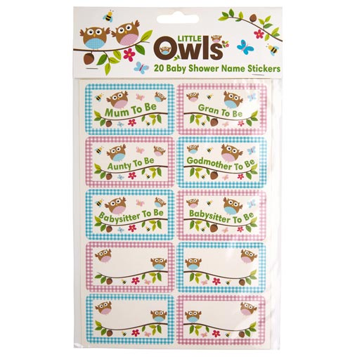 Little Owls - Name Stickers