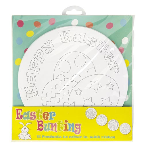Easter Craft Colour in Bunting