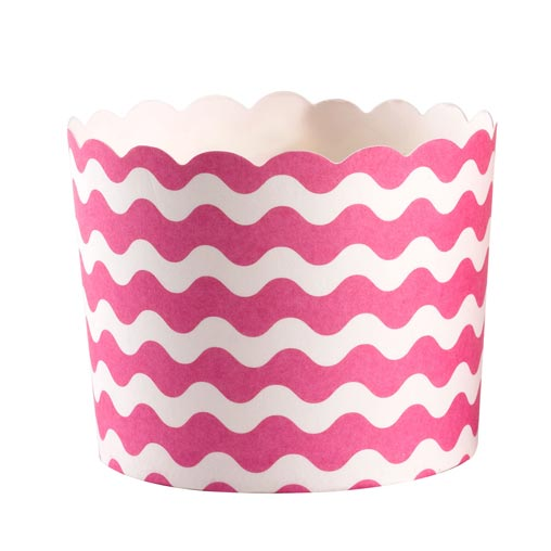 Carnival - Baking Cups - Waves Pink