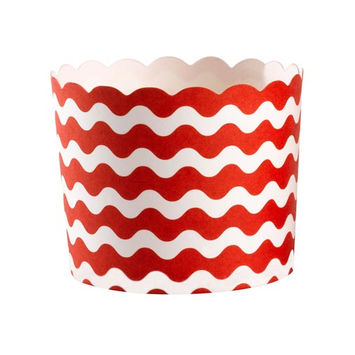 Carnival - Baking Cups - Waves Red