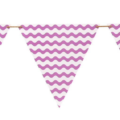 Carnival - Bunting - Waves Purple