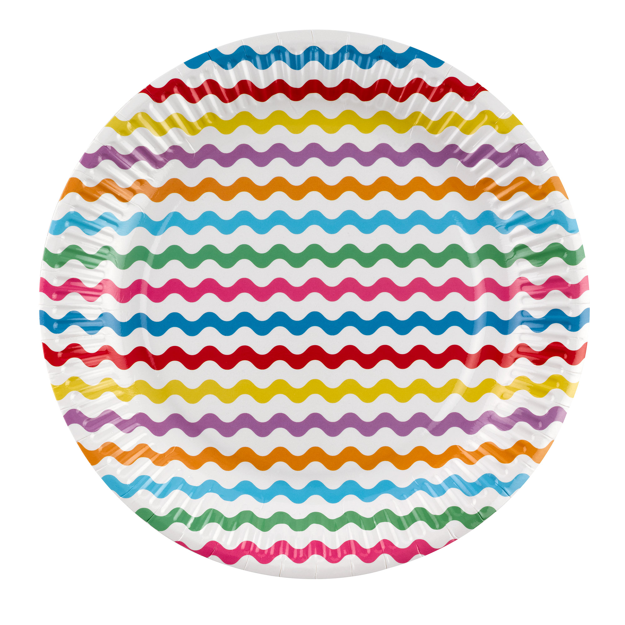 Carnival - Paper Plates - Waves Multi