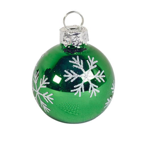Snowflake Bauble Place Card Holder Green