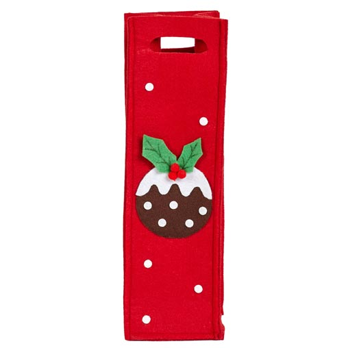 Christmas Pudding Felt Bottle Bag