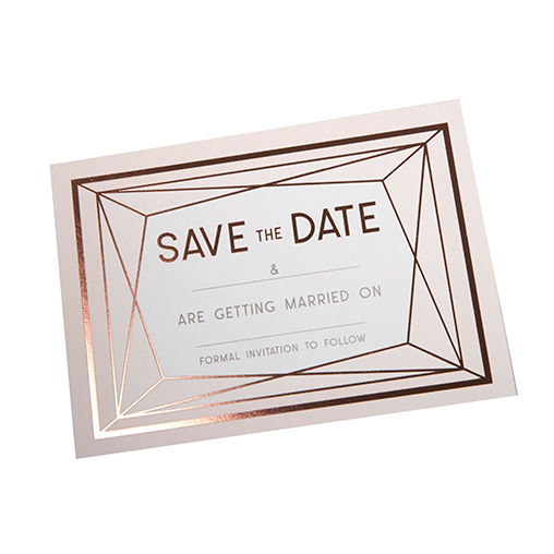 Geo Blush - Save The Date Cards with Envelopes