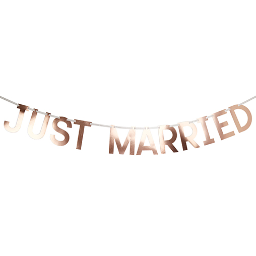 Geo Blush - Just Married Bunting Large