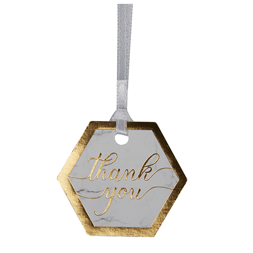 Scripted Marble - Luggage Tags Small