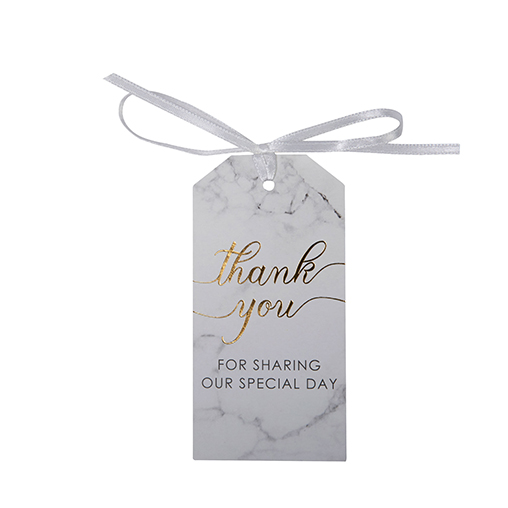 Scripted Marble - Luggage Tags Large