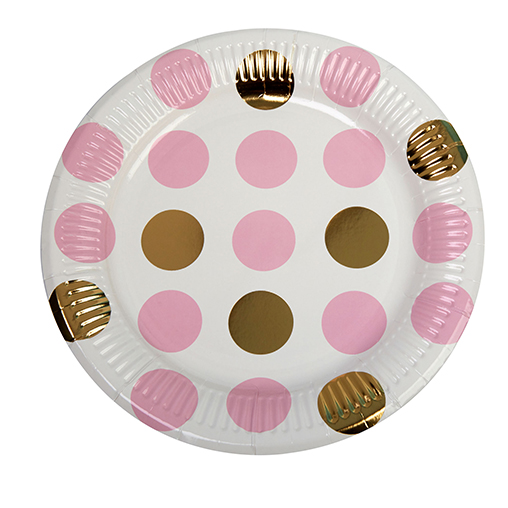 Pattern Works - Plate Pink Dots