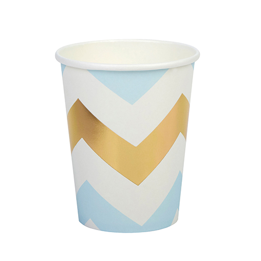 Pattern Works - Cup Blue Chevron