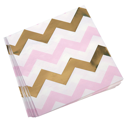 Pattern Works - Napkin Pink Chevron