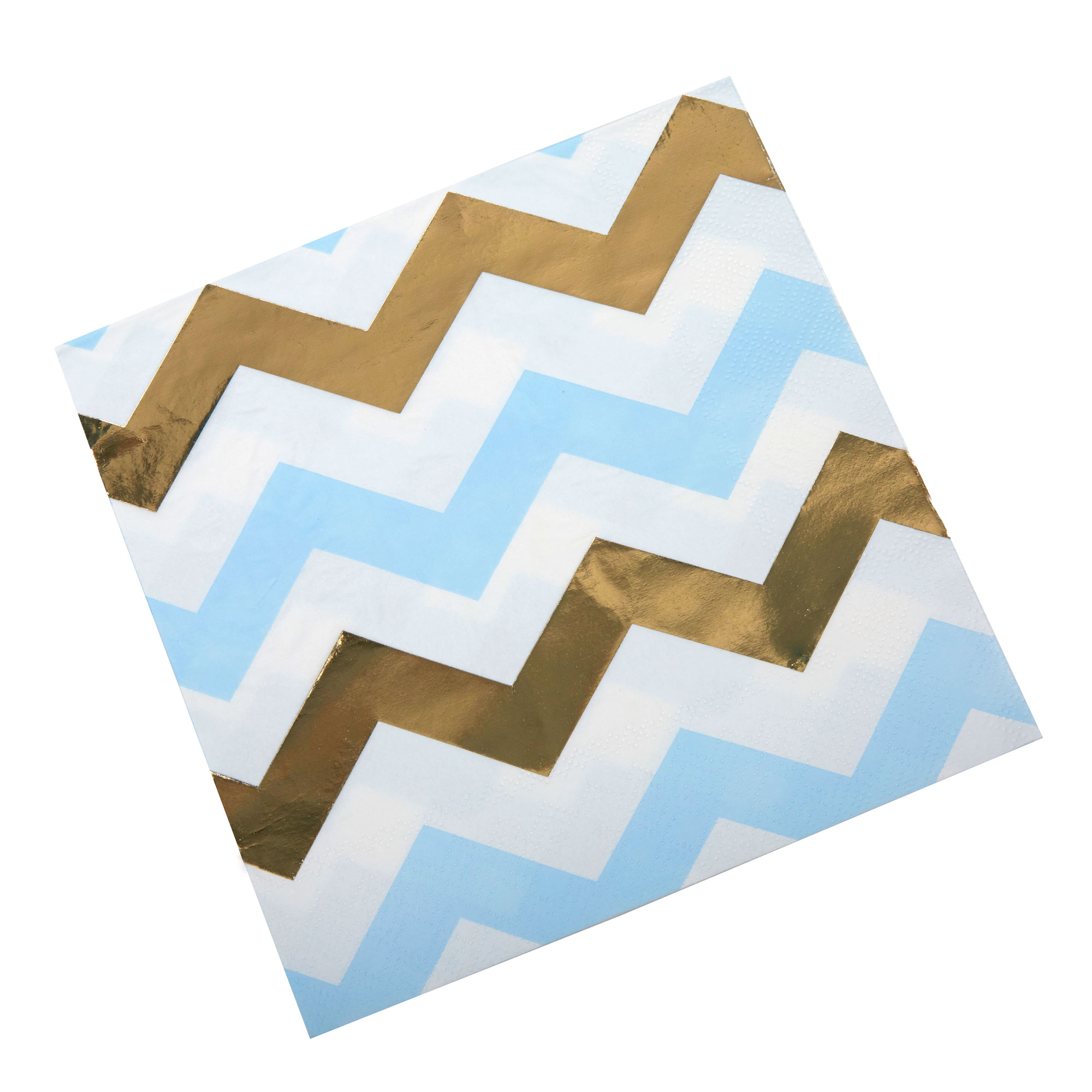 Pattern Works - Napkin Blue Chevron