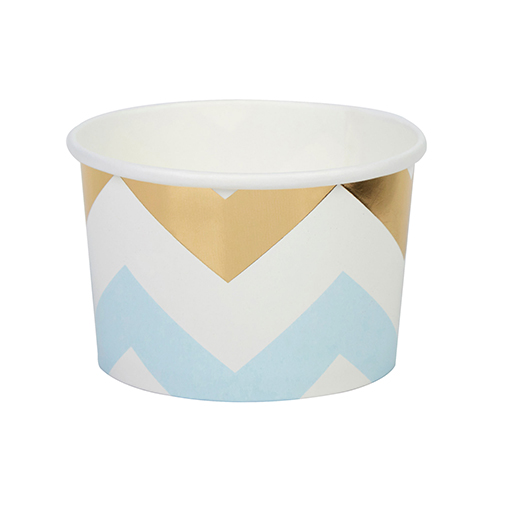 Pattern Works - Tubs Blue Chevron