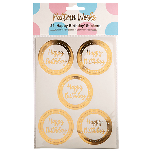 Pattern Works - Sticker Happy Birthday