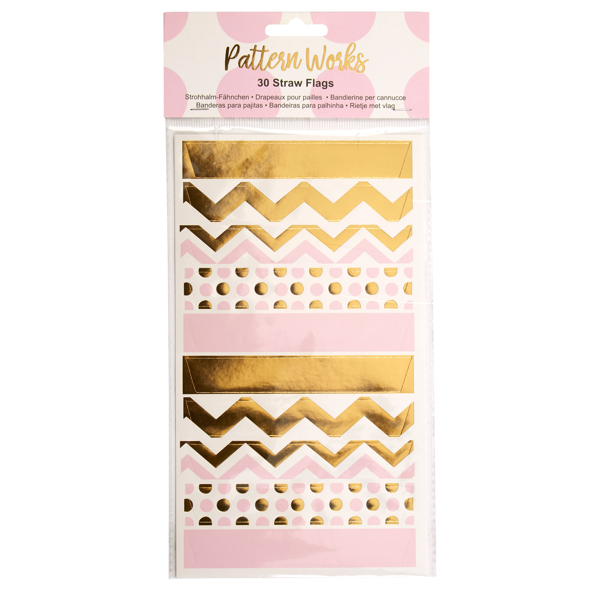 Pattern Works - Straw Flags Pink