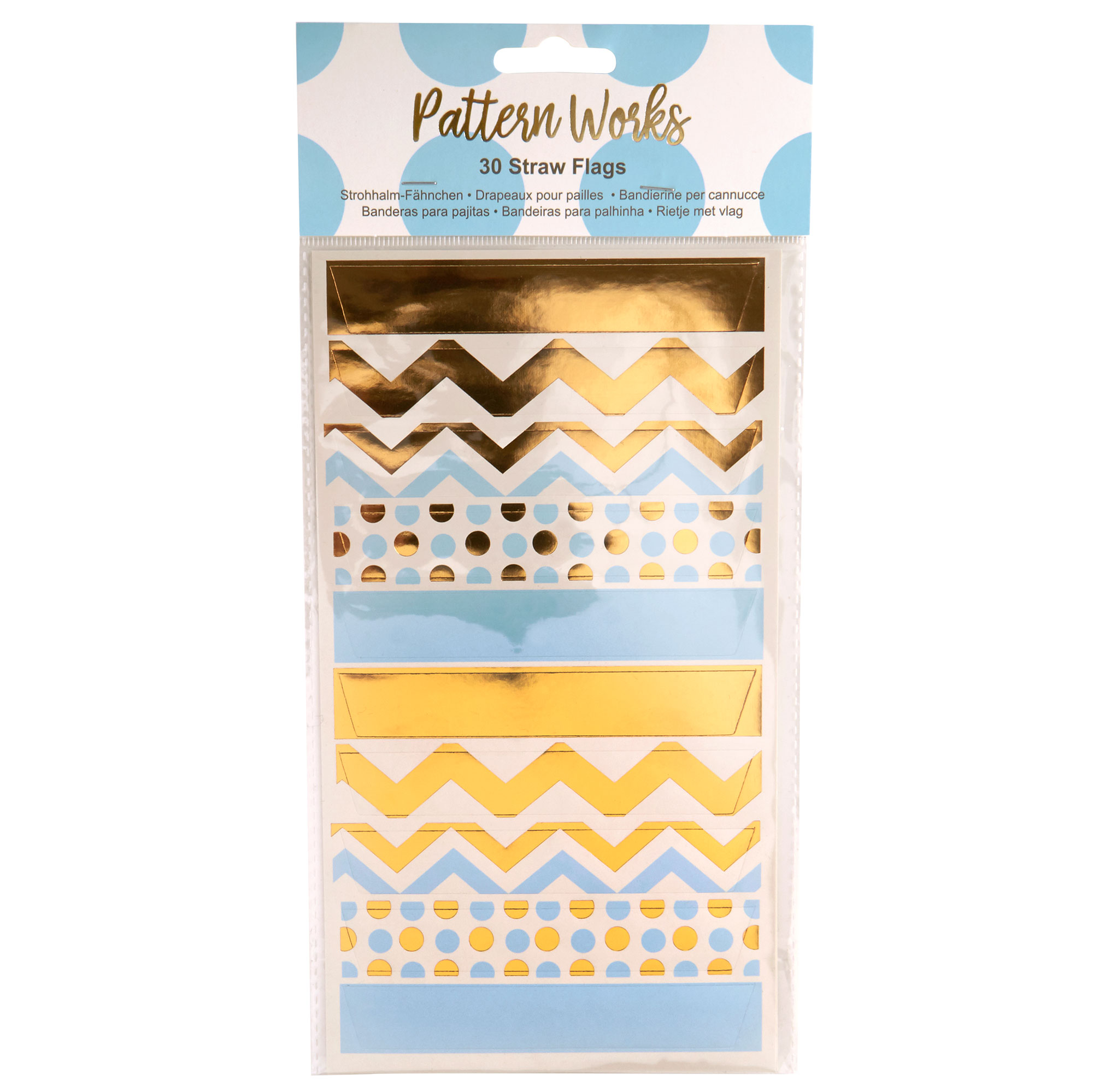 Pattern Works - Straw Flags Blue