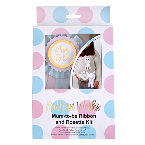 Pattern Works - Mum-To-Be Ribbon and Rosette Kit