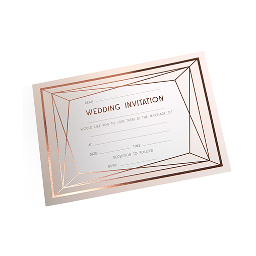 Geo Blush - Wedding Invitations with Envelopes