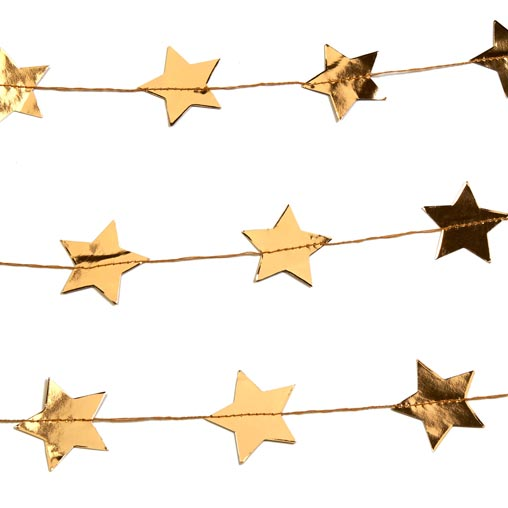 Dazzling Christmas -  Star Stitched Garland