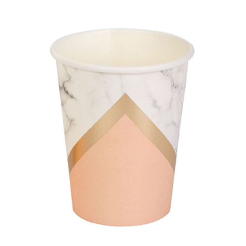 Colour Block Marble Cup - Peach
