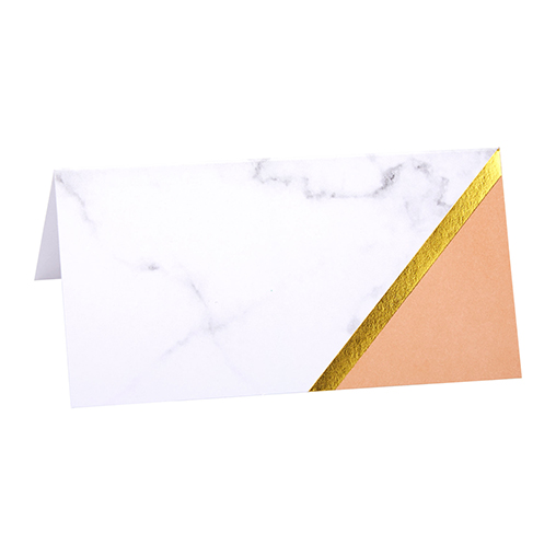 Colour Block Marble Place Cards - Peach