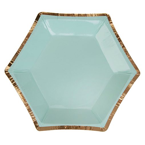 Colour Block Marble Plate - Mint - Small